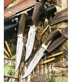 Badger Knife Gredos stag horn and brass