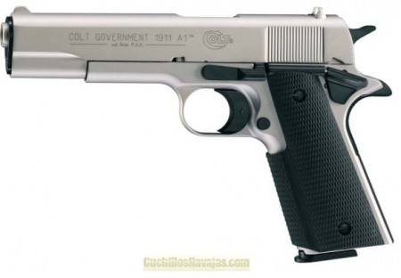 Pistola Colt Government 1911 A1 níquel
