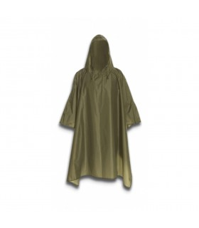 Poncho impermeable color verde