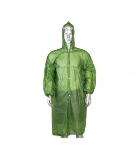 Poncho impermeable ligero color verde