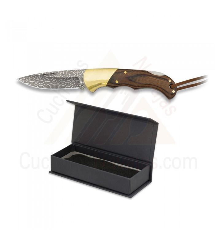 navaja albainox damasco y stamina - Cuchillo Cowboy Acero Damasco