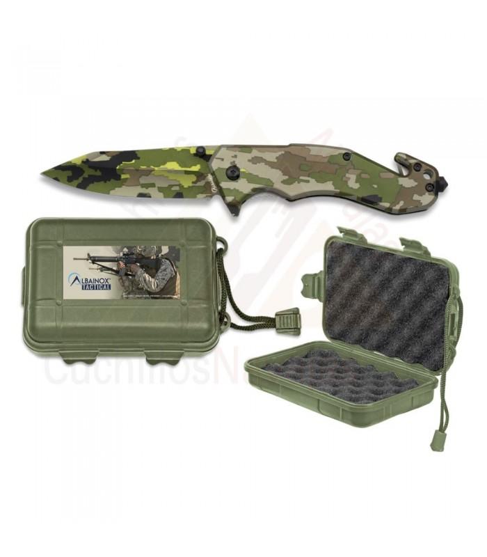 Navaja Albainox camo verde con caja