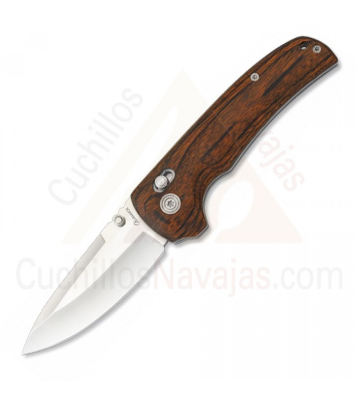 Navaja Albainox mango madera stamina con bloqueo, hoja 8,5 cm.