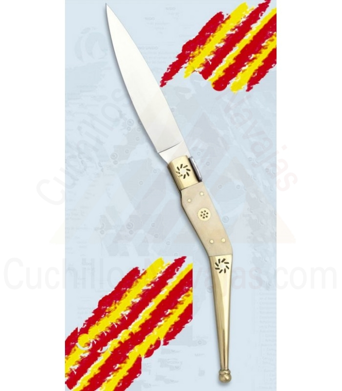 Navaja Catalana hueso, hoja 11,6 cms.